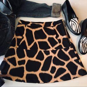 MICHAEL Michael Kors Mini ALine Animal Print Skirt